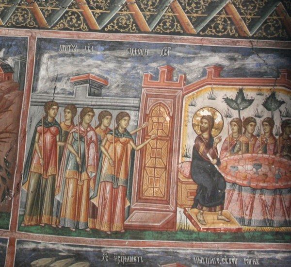 Image from Serbian monastery in Kosovo; 14th Century