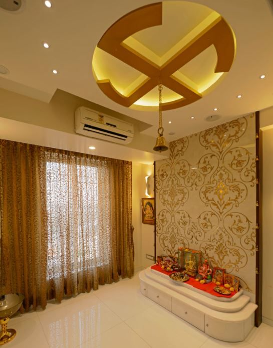 P O P Fall Ceiling Wallpaper 561 Best Pooja Room Designs Images On Pinterest