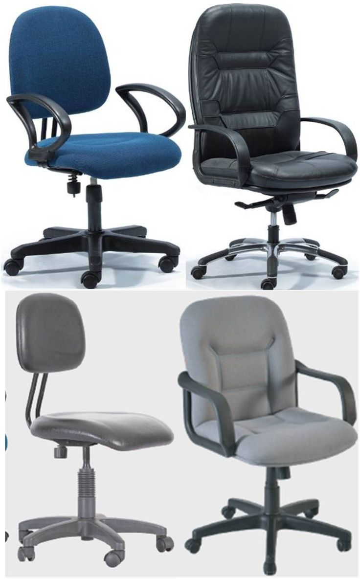 Swivel chair (Mid executive series)--- Manufacturer and vendor: hatil and regal,otobi SIZE: seat : 300x320•back:280x230  Height: floor to seat–430mm, Floor to back – 760mm,  Seat : 400x420mm, • back : 480 x 300mm  Height : floor to seat- 470, Floor to back – 420mm Material: mild steel, leather Unit cost:12000-15000 tk