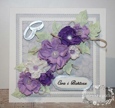 tasiemka w grochy: Ślubne fiolety
