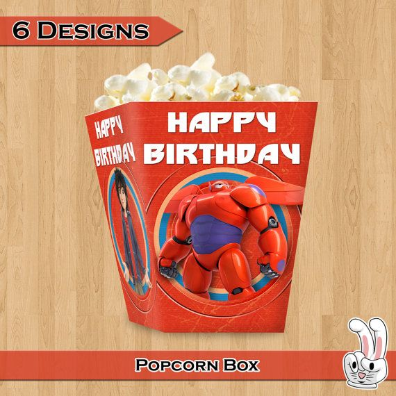Big Hero 6 Popcorn Box Birthday Party By FunnyBunnyStore