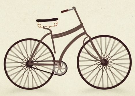 Watch the design evolution of the bicycle in a one minute animation ... 54d847a63
