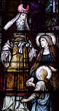 [Saint Joachim stained glass window]