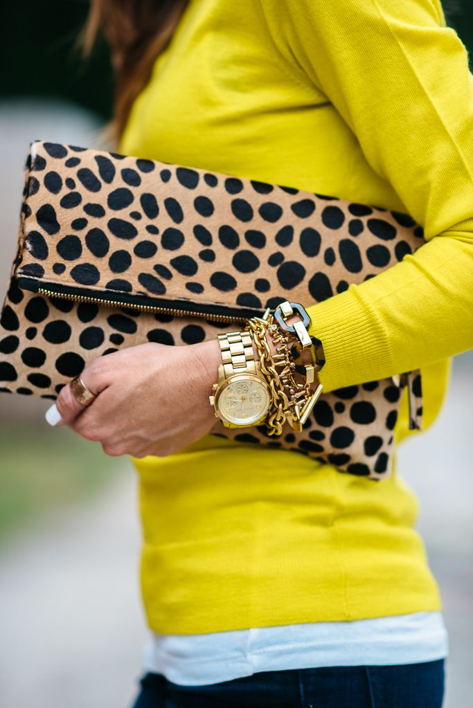 Leopard clutch and fun arm party