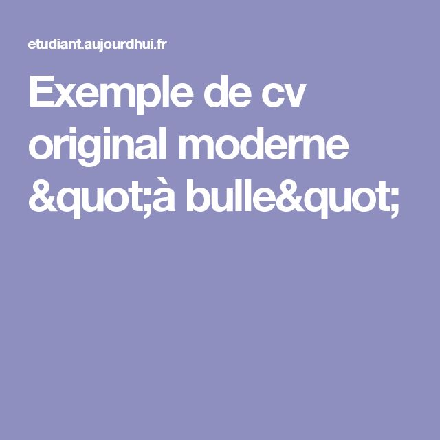 best 25  exemple de cv original ideas only on pinterest