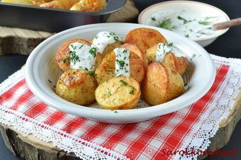 Sarokkonyha: Sült újkrumpli kapros öntettel