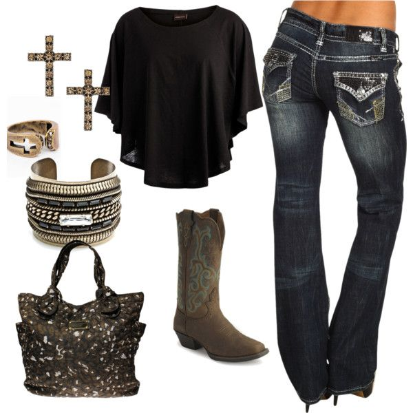 """""""cowgirl glam"""" everything but the crosses."""