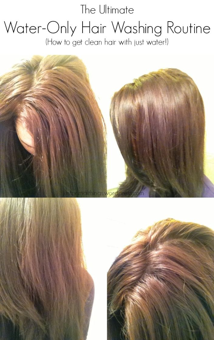 The Ultimate Water-Only Hair Washing Routine - How to get clean hair with just water via Just Primal Things Blog - Tags: No Poo, WO (water only), Shampoo-Free, Natural Hair Care
