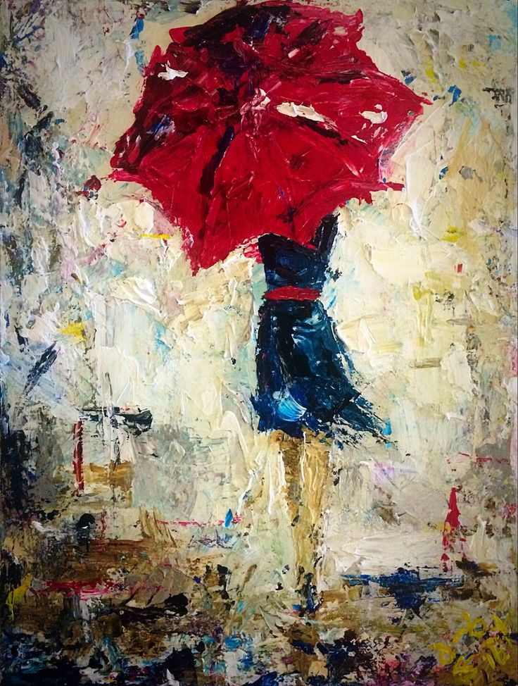 A personal favorite from my Etsy shop https://www.etsy.com/listing/251941948/umbrella-girl-hurry-home-2016-16x12-art