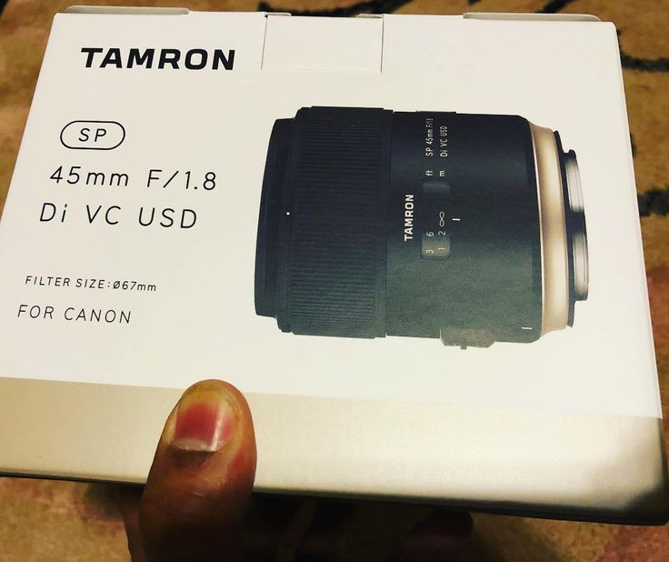 http://ift.tt/2DB8aXL . Deal was too good to pass up. Had to get one. The sale ends today (in a few hours). @tamronusa #45mm F/1.8 with VC (a.k.a Image Stabilization). This will make an excellent fast prime lens with a shallow DOF a focal length great for portraits and can be used handheld..
