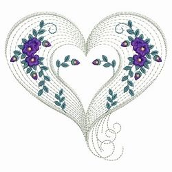 Rippled Floral Hearts 2 - 3 Sizes! | Floral - Flowers | Machine Embroidery Designs | SWAKembroidery.com Ace Points Embroidery