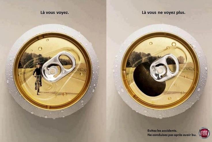 Una maravillosa campaña para prevenir el consumo de alcohol al volante...
