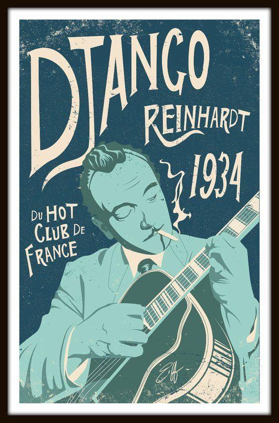 Django Reinhardt /& his Nouveau Quintet POSTER PRINT NEW
