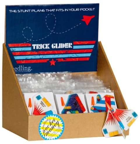 Seedling - Trick Glider Plane So this toy costs less than $1, but to be honest I can imagine my kids spending hour upon hour playing with these cool little planes. Truth is, fun toys don't have to cost a fortune! #entropywishlist #pintowin