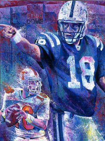 Peyton Manning Poster | Peyton Manning Quarterback Indianapolis Colts Football Art ...