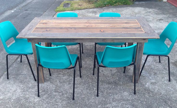 Carroll table - 2014. Silvered Oregon and Pine dining table. Designed + built by Brad Page.