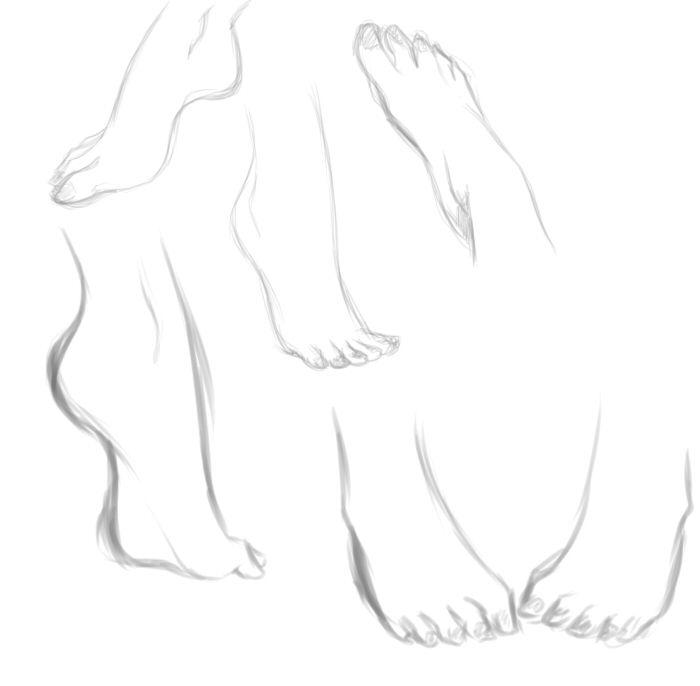Foot study by rika-dono.deviantart.com on @deviantART
