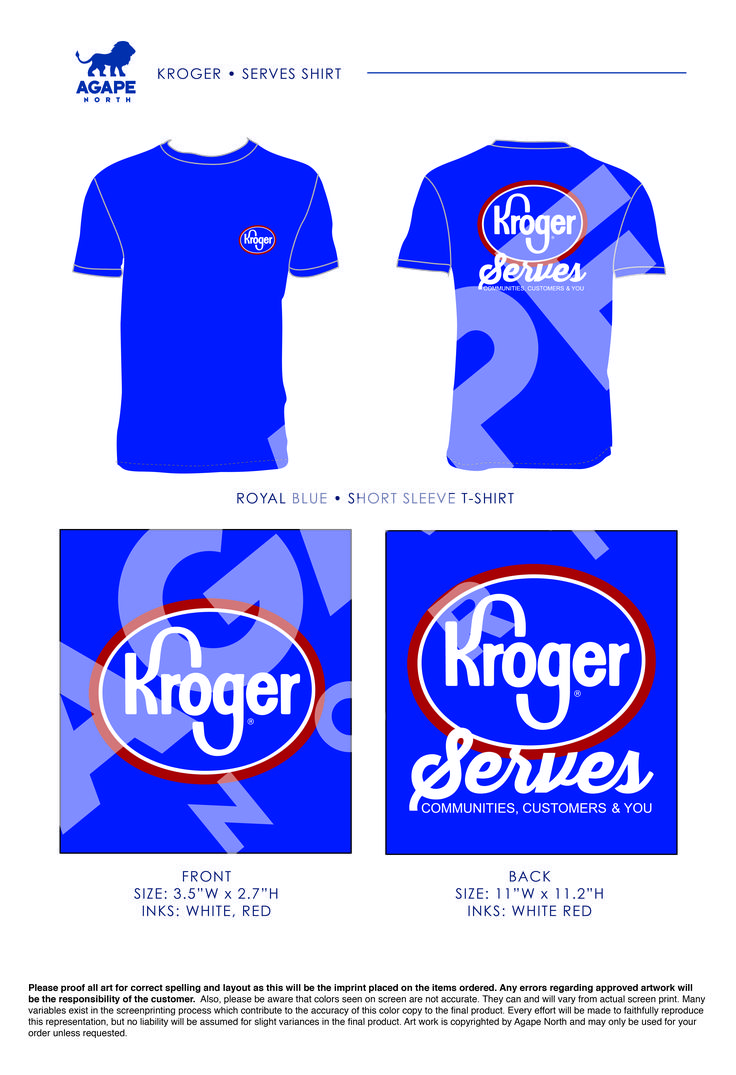 Custom Apparel that Gives Back. #kroger
