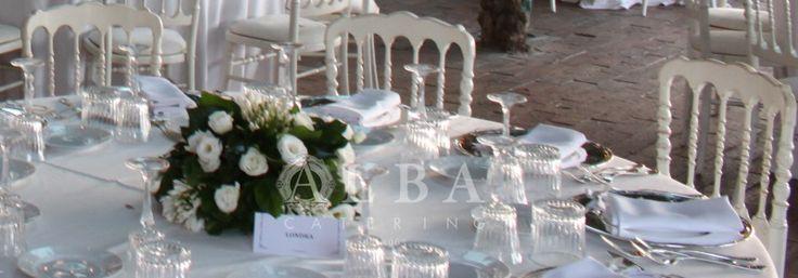 Mise en place regale e raffinata per un matrimonio indimenticabile al Castello.
