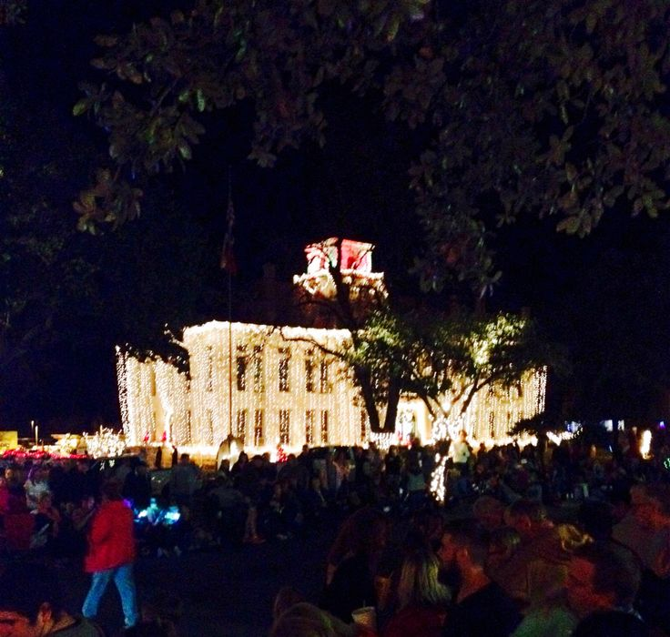 Christmas Lights covering the Blanco County, TX Courthouse in Johnson City,TX. #ExploreJC myHome Town