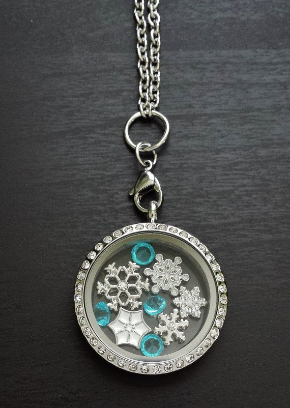 Winter Living LocketFloating Locket by PrettyPalazzo on Etsy