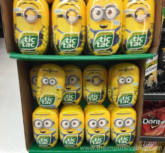 SPOTTED ON SHELVES: Limited Edition Tic Tac Minions | The Impulsive Buy