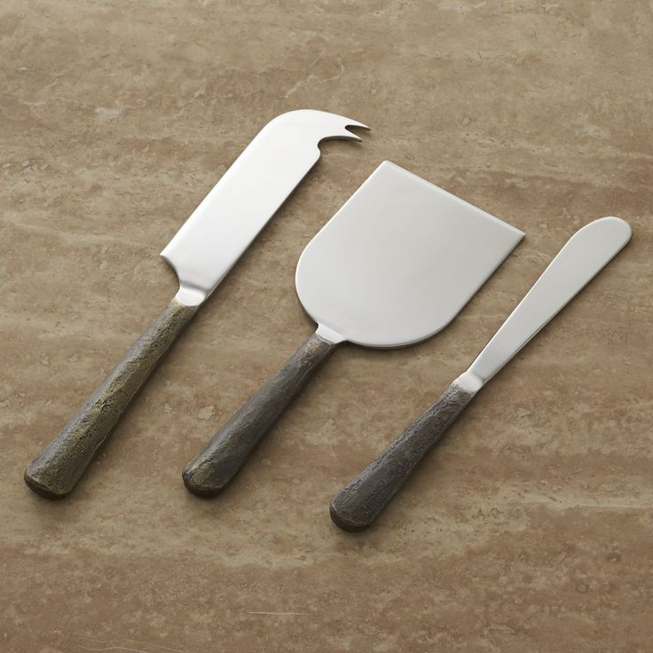 Taz Cheese Knife 3-Piece Set - Crate and Barrel