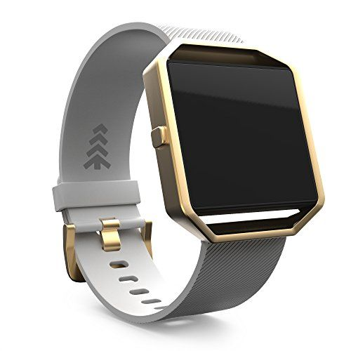 Fitbit Blaze Band Replacement Watch Bands Small White Band with Gold Holster Frame Offered by Teak