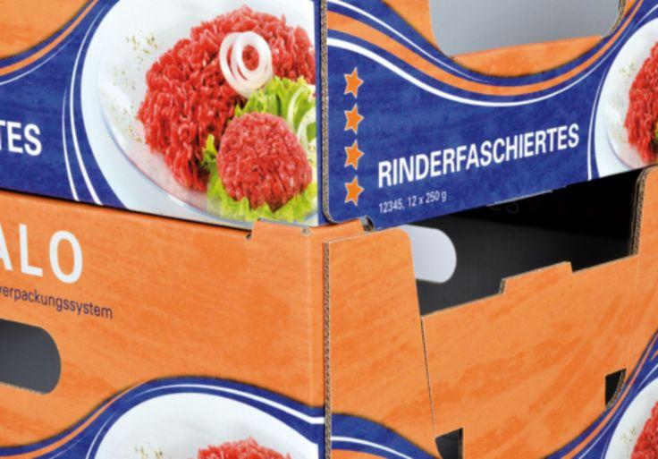 REGALO - das innovative Regalverpackungssystem • Hohe Stabilität durch QUICK-STACK-VERBINDUNG  an den Ecken • #T4P, #Lebensmittelverpackung, #Wurstverpackung