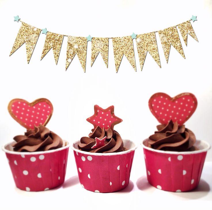Lebkuchen Cupcakes! ❤️