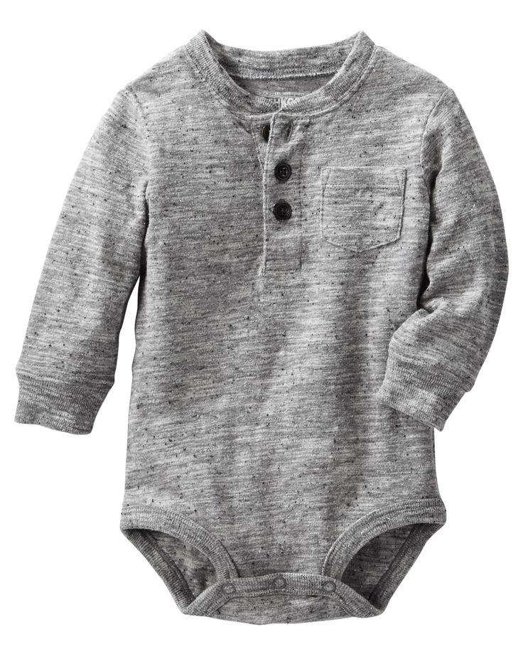 Baby Boy Henley Bodysuit from OshKosh B'gosh. Shop clothing & accessories…