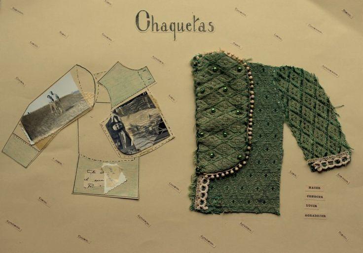 Chaquetas. Textil y collage. Alejandra Correa www.ale-correa.com