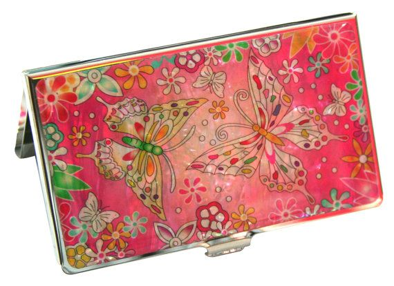 Nacre Mother of pearl Business card holder credit ID card case