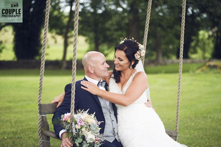 The bride & groom on the swing. Weddings at Tankardstown House by Couple  Photography.