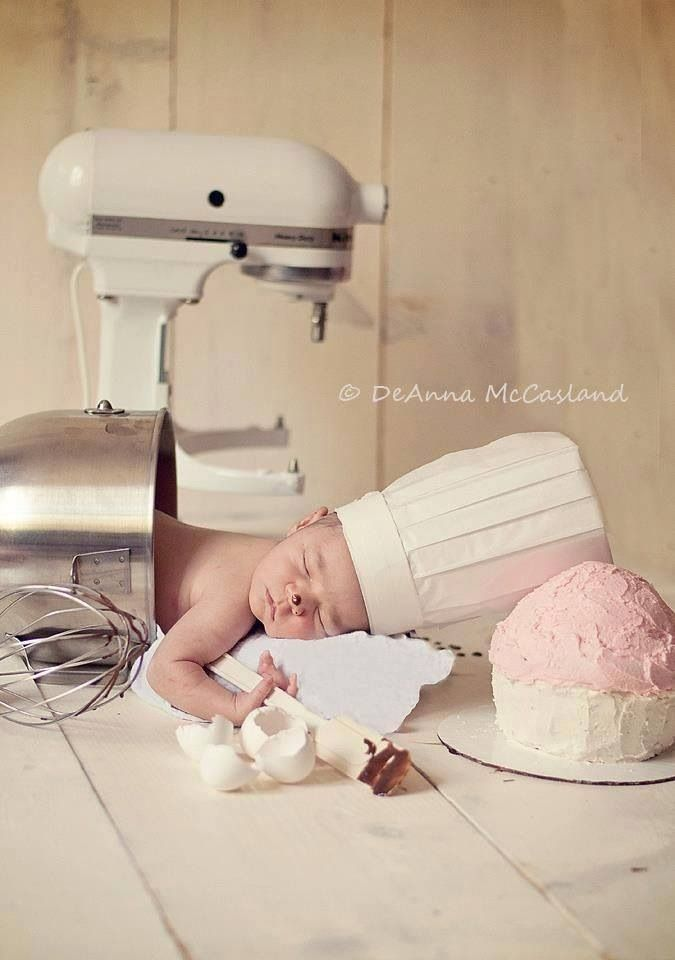 Isabelle will be a cupcake master just like her mommy