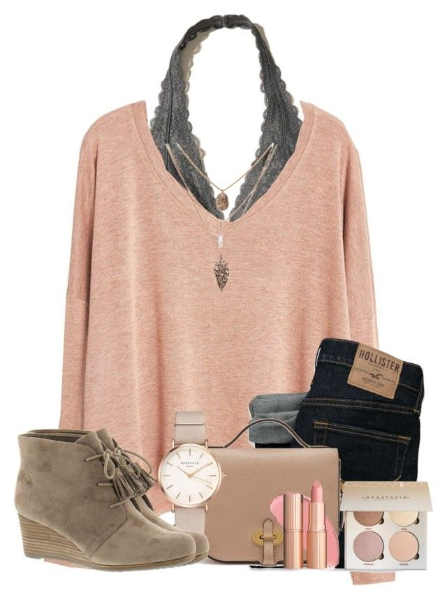 """""""Having a sleepover rn """" by cassieq6929 on Polyvore featuring Hollister Co., MANGO, Mulberry, ROSEFIELD and Dr. Scholl's"""