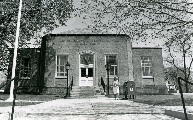 """Old"" Chardon Post Office Building, sometime in the 1980s"