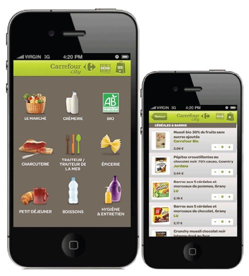 Carrefour City lance une application pour faire ses courses via un smartphone