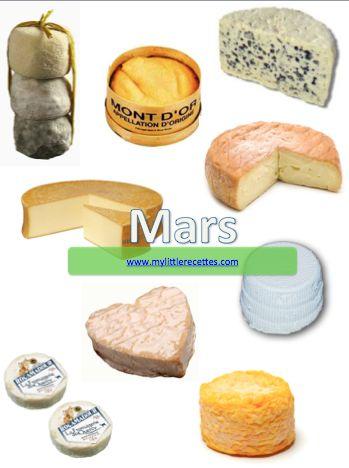 Produits de saison, fromages de mars - My Little Recettes
