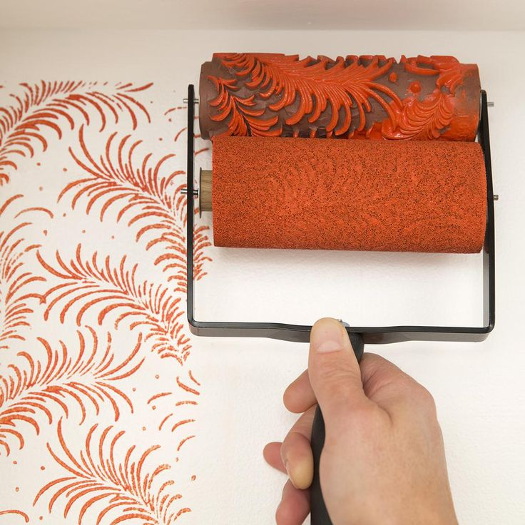 How to Roll on a Painted Pattern Patterned paint rollers