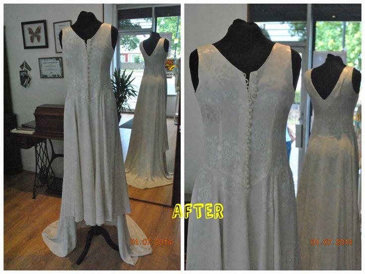 Full Length Vintage Wedding Dress After Alteration Result Sleeves Were Taken Off Re