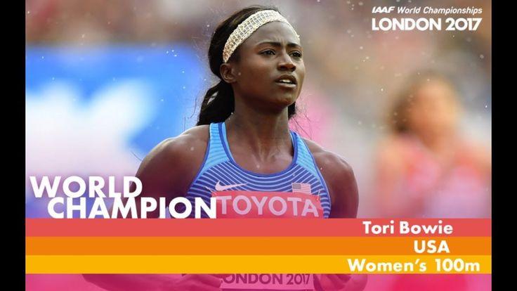 100 M Women Finale Congrats Tori Bowie Gold Medal