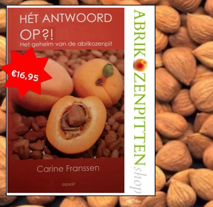 Vanaf heden verkrijgbaar:   hèt boek over de heilzame werking van de abrikozenpitten; geschreven door Carine Franssen. Nu te bestellen op www.abrikozenpit.nl  Voor meer informatie mail naar info@abrikozenpit.nl