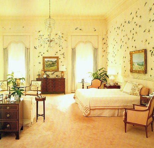 Nancy Reaganu0027s Bedroom At The White House Decorated By Ted Graber Part 80