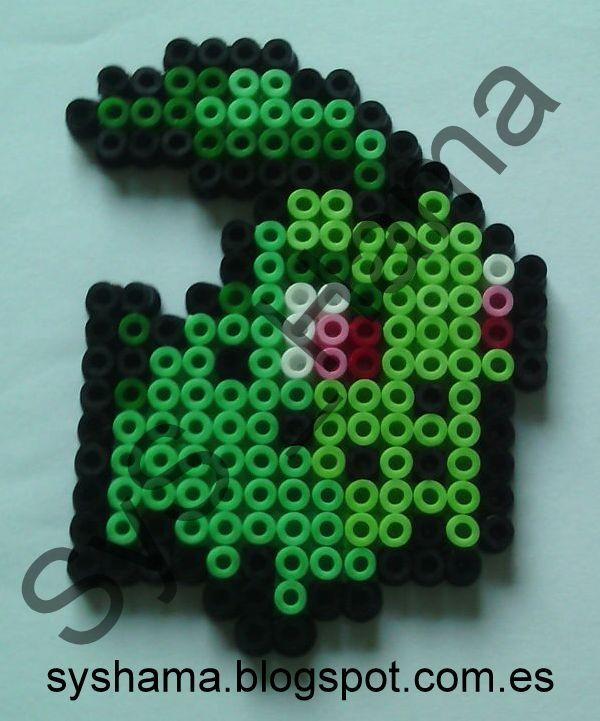 Chikorita Pokemon hecho con Hama Beads MIDI. También hago otras figuras. Si estas interesado en otra en especial y quieres que la haga, contacta conmigo: syshama6@gmail.com