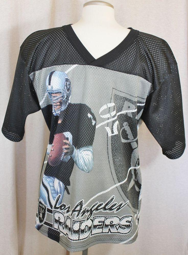 Vintage NFL Los Angeles Raiders CCM All Over Print Mens Football Jersey Black  #Unknown #LosAngelesRaiders