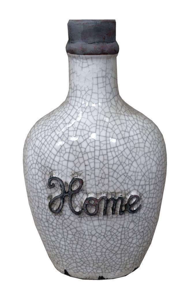 Een echte grote mooie vaas met de tekst Home