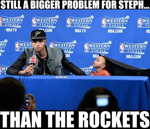 Steph Curry's Biggest Problem: Riley Curry! #Warriors - http://nbafunnymeme.com/nba-memes/steph-currys-biggest-problem-riley-curry-warriors-2