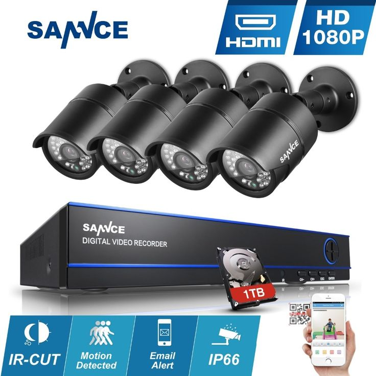 199.98$  Watch now - http://alibds.worldwells.pw/go.php?t=32794155279 - SANNCE 4CH 1080P CCTV Security Camera System 1080P HD DVR with 4pcs 2.0MP AHD Cameras Video Surveillance diy kit 1tb hdd 199.98$