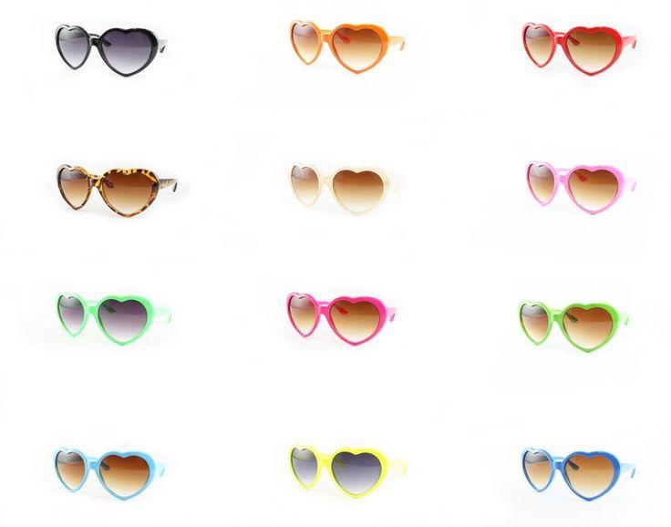 Love Heart Shaped Frame Fun Funky Fancy Dress Party Clubbing Sunglasses